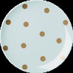 RiceMelaminTallerkenMGuldPolkaPrikker3AssPastelfarver-01