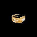 hårbøjle med blade gul black colour
