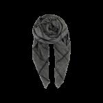 tørklæde ternet black colour