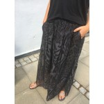 Black Colour Maxi Skirt