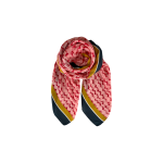 tørklæde pink black colour