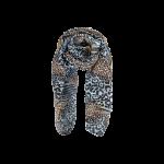 tørklæde dyreprint black colour