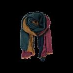 Black colour tørklæde multicolour