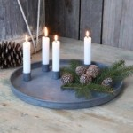Chic Antique Zink fad med flytbare lyseholdere-01
