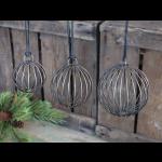 Chic Antique julekugler i metal 51718-24