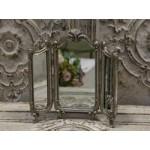Chic Antique Fransk 3-fløjet spejl antique sølv-01