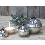 Chic Antique glaskugle med stearinlys