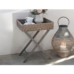Chic Antique Bakkebord i flet fransk grå-01