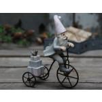 Chic Antique Vintage julenisse på cykel-01