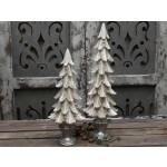 Chic Antique Vintage juletræ m/ glimmer H50-01