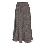 lang sort blomstret nederdel co couture