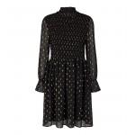 kort sort kjole med guld co couture