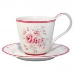 GreenGate Kaffekop Flora white-01