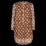 kort kjole tunika brun in front