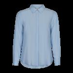 dameskjorte lys blå in front