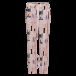 lang løs buks rosa print in front