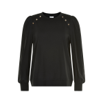 sort sweatshirt damer in front