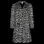 kort kjole grå dyreprint in front