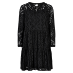 kort sort kjole in front