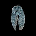 tørklæde blå med blomster black colour