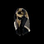 ternet tørklæde sort sand black colour