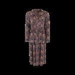 lang maxi kjole sort med print black colour