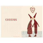 Maileg Julekort Coo-kiss, lille dobbelt kort-01