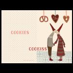 Maileg Julekort Coo-kiss, dobbelt kort-01