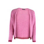 strik cardigan pink black colour