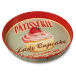"Natives Rund metalbakke ""Lady Cupcake""-01"