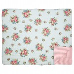 GreenGate Franka pale blue quiltet tæppe Bed cover 140 x 220