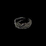 hårbøjle sort med guld black colour