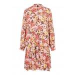 kort blomstret kjole koral yas