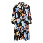 sort kjole med blomsterprint yas